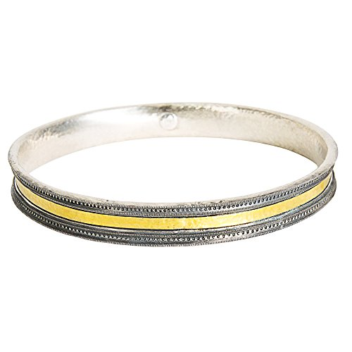 Gemma by WP Diamonds Gurhan Bangle Bracelet in 24K Yellow Gold and Sterling Silver MSRP 1,195