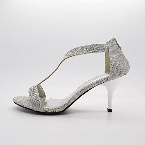 cheville argent Footwear Bride de femme Argent London 6xvtAqwa
