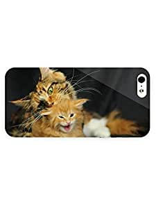 3d Full Wrap Case for iPhone 5/5s Animal Cat With Her Kitten71