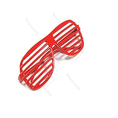 Rock Star And Diva Long Gloves (Yumian Retro Fun Party Shutter Shades Glasses Novelty Club Fashion Fancy Dress Eyewear (Red))