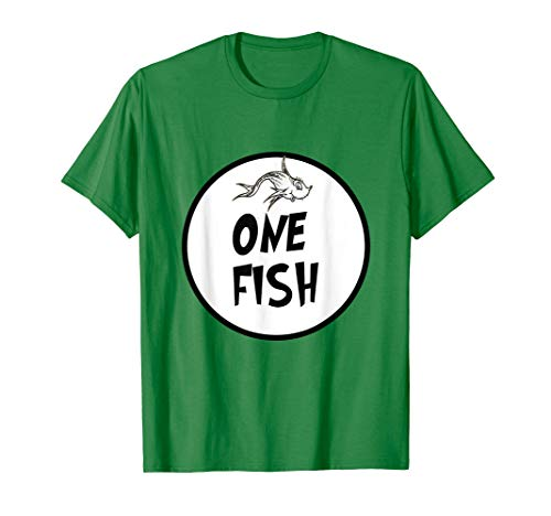Cute Rhyming One Fish T-shirt | Matching Croup Costume -