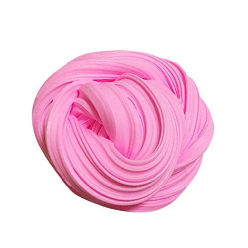 Amanod Fluffy Floam Slime Scented Stress Relief No Kids Toy Sludge Toy (Pink)