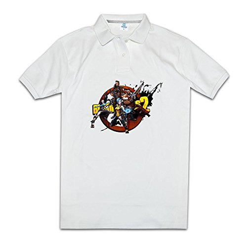 Price comparison product image KONGYII Men Borderlands Shooter Game Casual Poloshirt