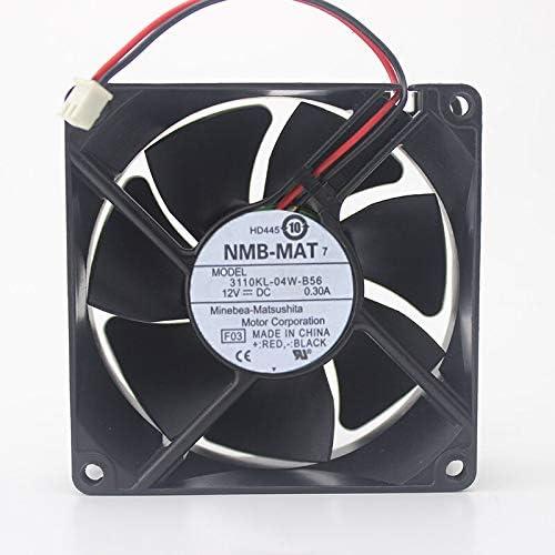 Original 8cm8025 12V 0.3A server fan 3110KL-04W-B56 four lines