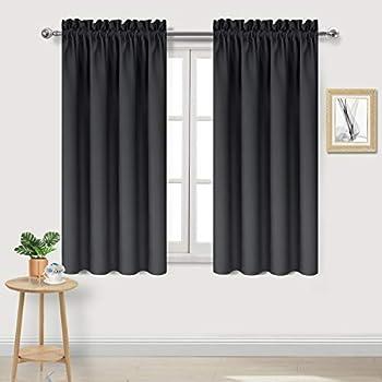 dwcn blackout room darkening thermal insulated bedroom curtains black kitchen. Black Bedroom Furniture Sets. Home Design Ideas
