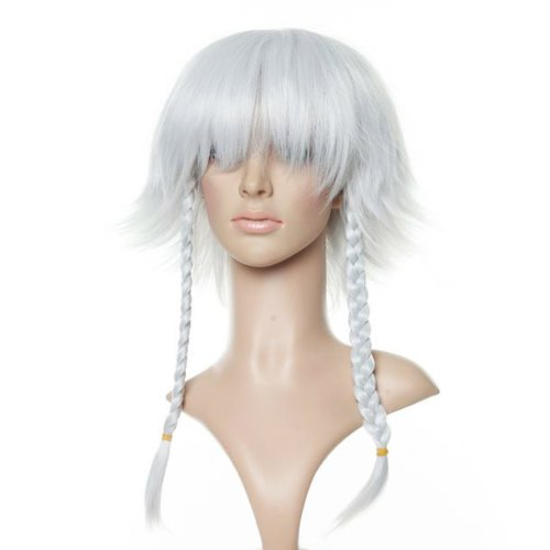 White Wig with Braids
