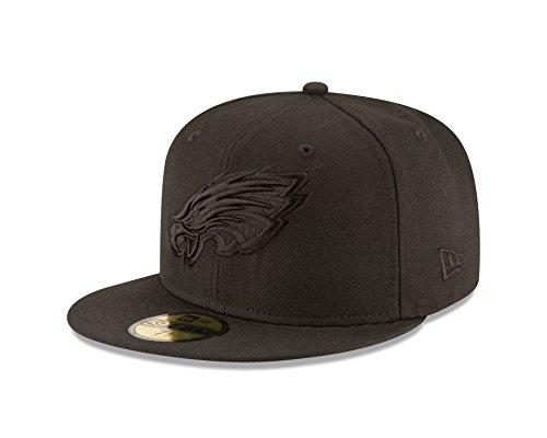 NFL Philadelphia Eagles Men's Black On Black 59Fifty Fitted Cap, 7 5/8
