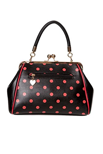50s Top Handbag Polka Black Crazy amp; Thing Bag Handle Little Rockabilly White amp; Vintage Red Banned Black Xg80vx