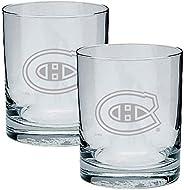 Montreal_Canadiens Logo NHL Hockey Rocks Glass Set of Two 13.5 oz in Gift Box