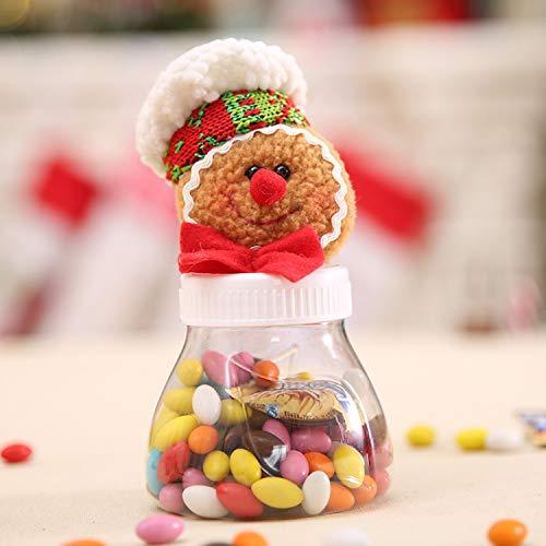 Foreverharbor Pequeño Pan de Jengibre de Navidad del Caramelo Latas Tarro con Botellas de Navidad Linda muñecas Dulces de...
