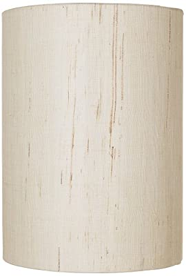 Ivory Linen Drum Cylinder Shade 8x8x11 (Spider)