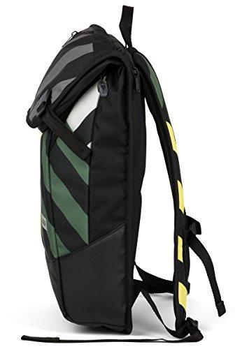 AEVOR Daypack Rucksack für die Uni und Freizeit inklusive Laptopfach und erweiterbar auf 28 Liter Rock Grain - schwarz Green Range