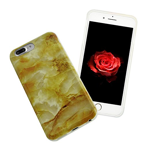 TPU Mármol Funda para iPhone 7 Plus 5.5 Sunroyal® [Anti-arañazos] [Anti-huella] Ultra Delgado Flexible Case Cover Suave Carcasa Bumper Parachoques Cubierta Caja del Teléfono para iPhone 7 Plus(5.5 Pu A-30