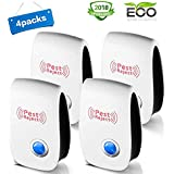 Awaqing Ultrasonic Pest Repeller Plug in Pest Control - Electric Mice Repellent & Mosquito Repellent in Pest Repellent - Ant Repellent for Fly,Mouse,Rat,Roach,Spider,Flea,Bug (4 Pack)