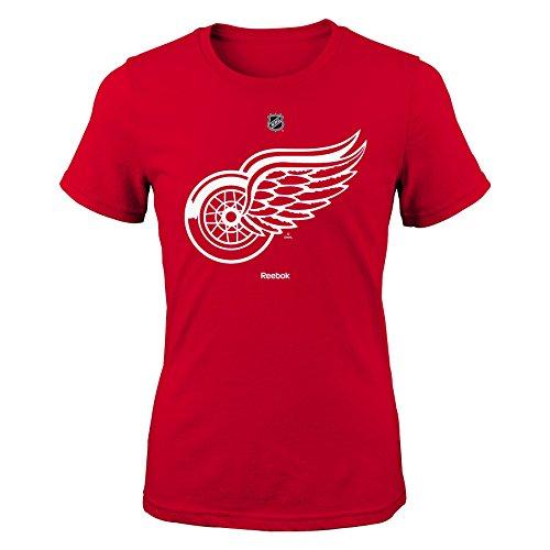 NHL Girls 7-16 Red Wings Team Logo Short Sleeve Tee, S(7-8) - Red Wings Girls Shirt