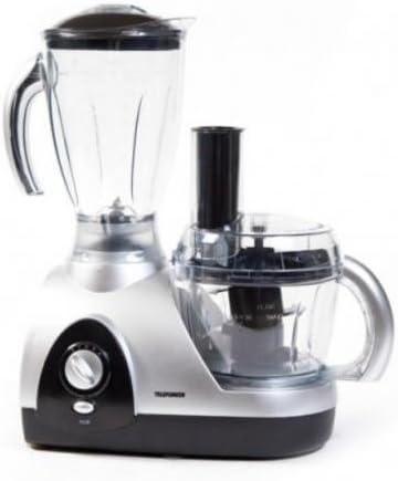 Telefunken M01580 600W 1.5L Negro, Plata - Robot de cocina (1,5 L, Negro, Plata, Botones, Giratorio, 0,8 L, 600 W, 220-240): Amazon.es: Hogar
