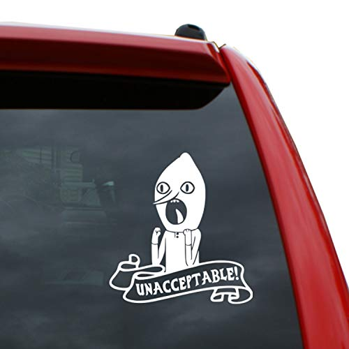 Black Heart Decals & More Adventure Time - Lemongrab Vinyl Decal Sticker | Color: White | 5