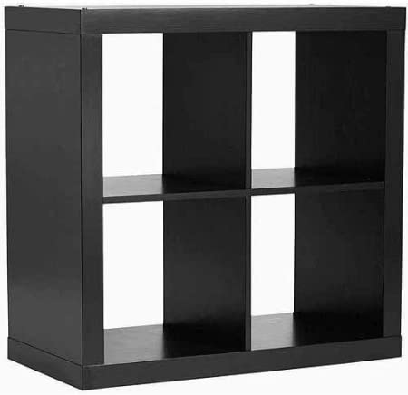 Versatile Better Homes and Gardens Square 4-Cube Organizer, Solid Black