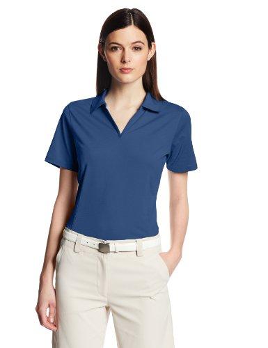 (Cutter & Buck Women's Drytec Medina Tonal Stripe Short Sleeve Polo, Tour Blue,)