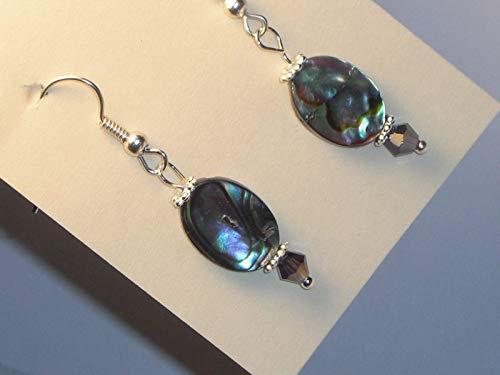 Earrings Abalone Mother of Pearl for Pierced Ears