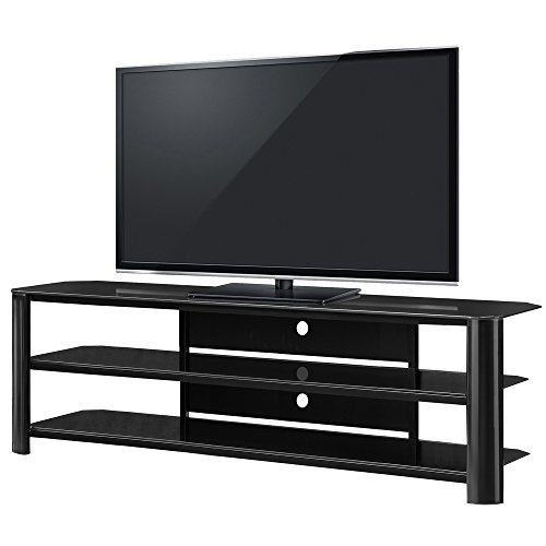 "Innovex TPT65G29 Oxford Fold N Snap 65"" glass TV Stand for TVs up to 70 inches, Black"