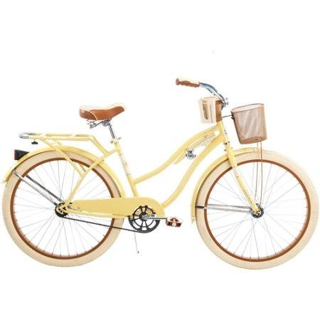 yellow beach cruiser