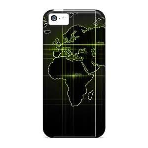 Iphone High Quality Tpu Case/ World Map Green JJqFWBf8325kVQEE Case Cover For Iphone 5c