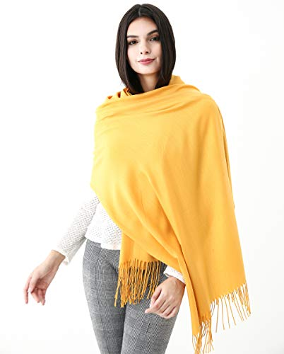 "Soft Solid Cashmere Feeling Scarf Pashmina Shawls Wraps Scarfs Scarves Large Size 75""X27"""