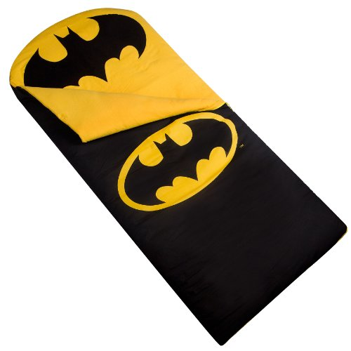 Wildkin Original Sleeping Bag, Features Matching Travel Pillow and Coordinating Storage Bag, Perfect for Sleeping On-the-Go – Batman