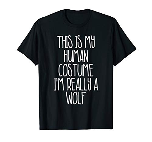 Cute Simple Diy Halloween Costumes (Cute Simple Wolf Halloween Costume Shirt for Girls Boys)