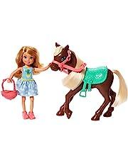 Boneca Barbie Club Chelsea com Pônei, Acessórios de Cavalgar, Mattel
