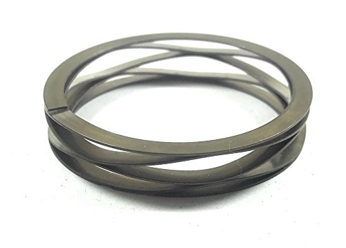 Multiwave Washers with Shim Ends, Stainless_Steel_17-7_PH,Metric, 40mm ID, 50mm OD, 0.53mmThick,3.63mmwire Width, 20.15N/MM Spring Rate, 110 Load Capacity@Spring height4.83MM, Free ()