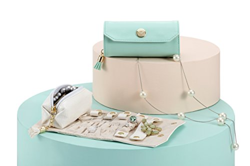 Vlando Rollie Portable Jewelry Roll, lipstick/Daily Jewelries Storage Case- (White) by Vlando (Image #6)