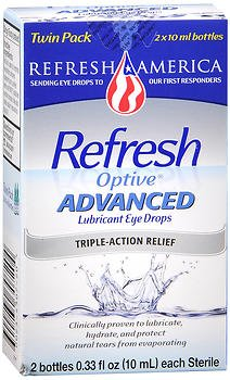Refresh Lubricant - Refresh Optive Lubricant Eye Drops Advanced - 0.33 fl oz twin pack by Refresh