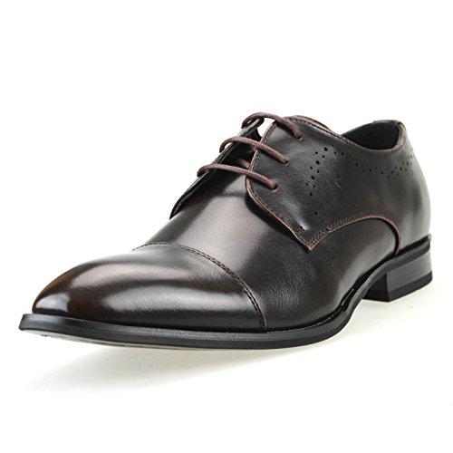 Shoes 2 Cap up Cap Black mm Dress Dbr Tip Oxford Dark ONEMen Brown Toe Shoes Lace Mpt109 Toe Medallion HFwqcxfqPT