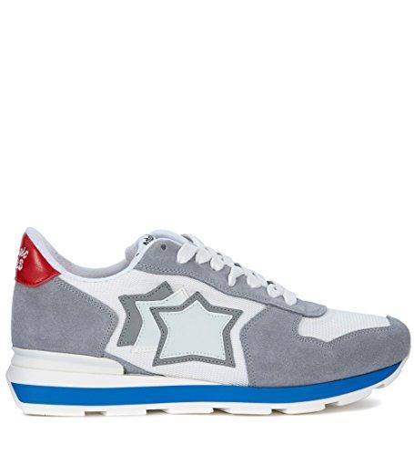 Atlantic Stars Sneaker Antares in Suede Grigio e Tessuto Bianco Multicolor