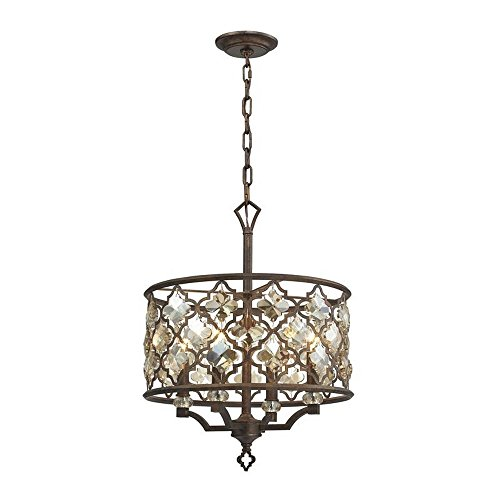 picture of Elk Lighting 31096/4 Armand - Four Light Pendant, Weathered Bronze Finish