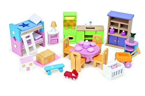 Einrichtungs-Starterset, verschiedene Puppenhausmöbel
