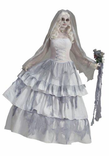 Forum Novelties Women's Deluxe Victorian Ghost Bride Costume, Multi, One (Corpse Bride Costumes Halloween)