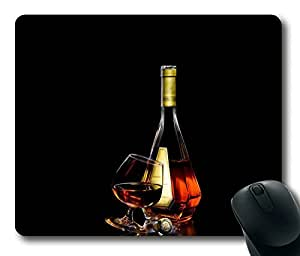 Wine And Glass Alcoholic Masterpiece Limited Design Oblong Mouse Pad by Cases & Mousepads