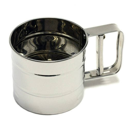 Chef Craft Classic 3-Cup Stainless Steel Flour Sifter by Chef Craft