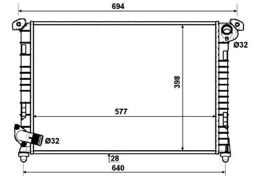 NRF 53807 K/ühler Motork/ühlung