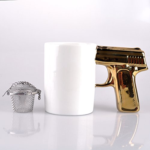 UCEC Gold White Gun Mug