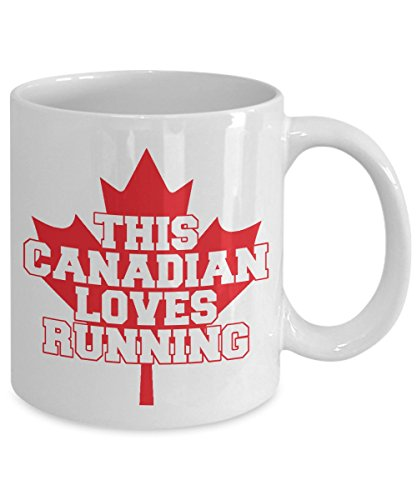 This Canadian Loves Running Coffee Mug - CANADIAN MAPLE (11oz, - Swimsuits Vancouver