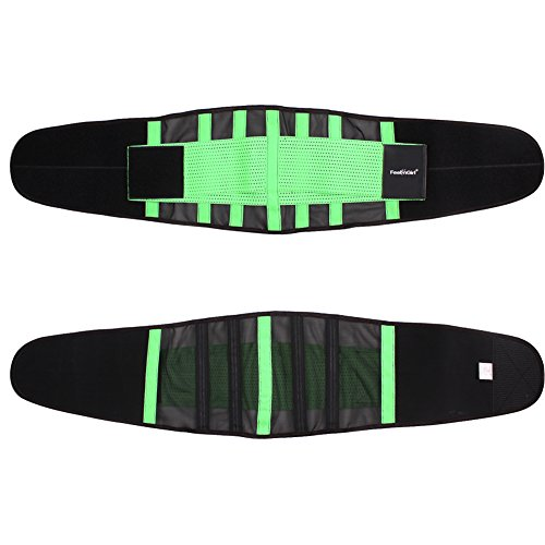 FeelinGirl - Faja transpirable para cintura, posnatal, cinturón de adelgazamiento Verde