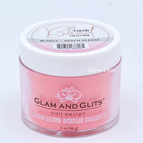 Glam And Glits Acrylic Powder Color Blend Collection BL3022 Peach Please 2 oz
