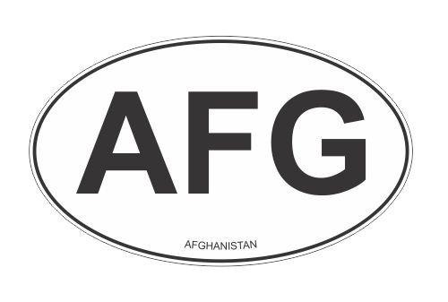 Slap-Art AFG Afghanistan oval Vinyl Decal Sticker