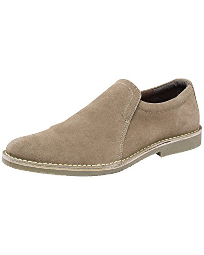 Cotton Traders Mens Casual Suede Slip-On Elastic Insert Desert Comfort Shoes E Fit Taupe 12