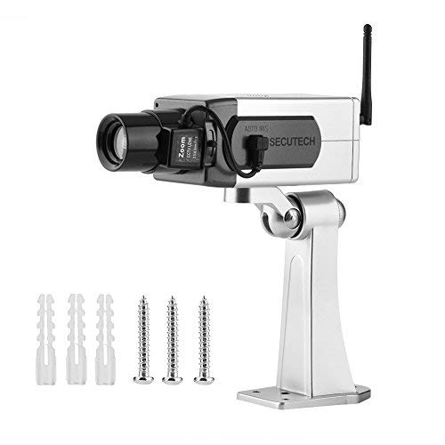 Zerone Bullet Dummy Camera, Fake Bullet CCTV Waterproof Auto Rotation Movement Security Camera Surveillance System With Realistic Look Flashing LED for Indoor & Outdoor by Zerone