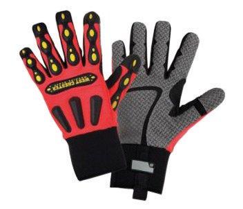 (West Chester 2X Orange R2 Safety Rigger Mechanics Gloves. (6 Each))